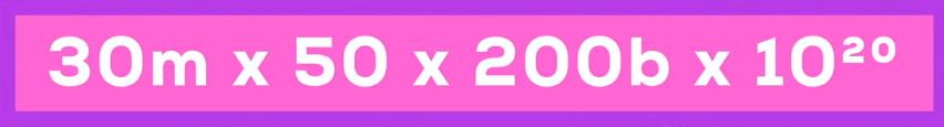 3000万×50×2000憶×(10の20乗)