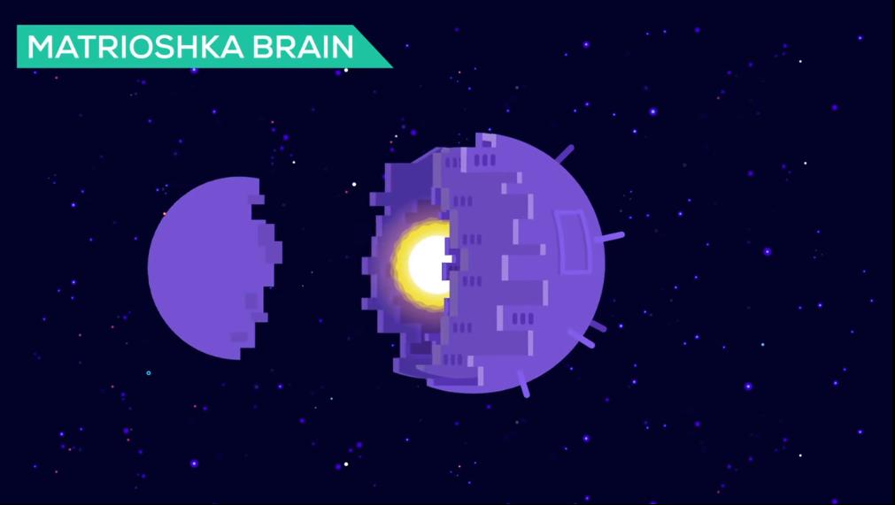 星からエネルギーを得て作動する「マトリョーシカブレイン」