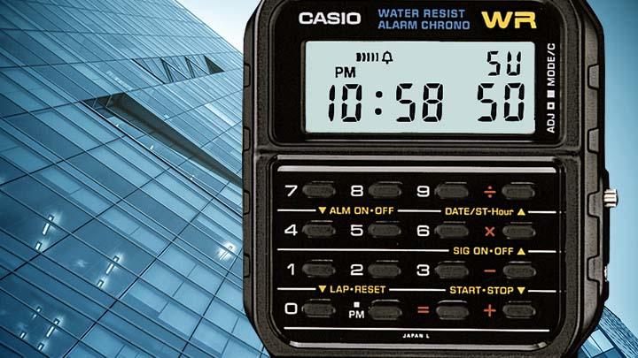 どっかで見たことある。エモい電卓付き時計が再ブームの兆し