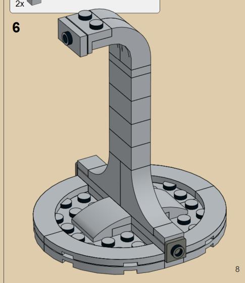 レゴで作るテンセグリティ構造の土台