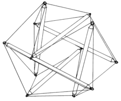 20面体のテンセグリティ