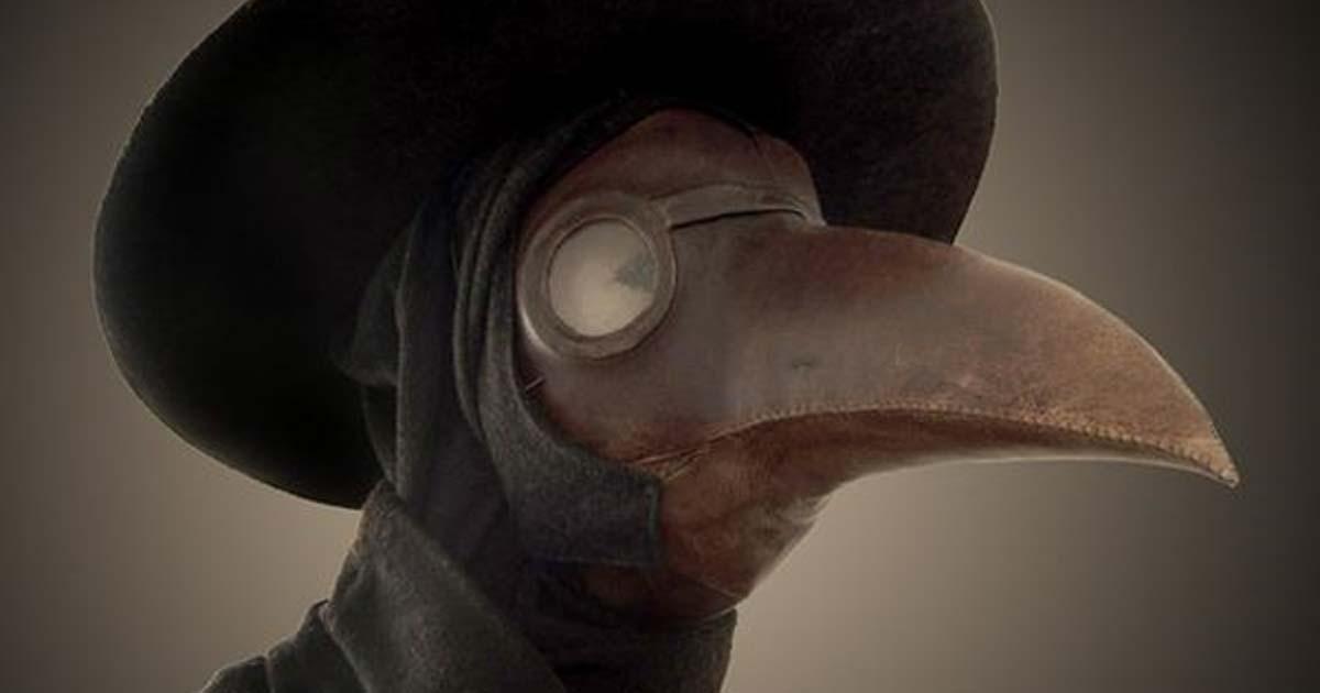 カラスのくちばし型ペストマスク