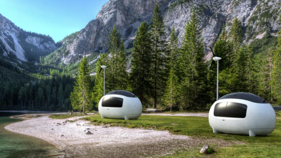 自家発電や水のろ過もできる近未来ハウス「Ecocapsule®」 隠れ家や災害時の避難先として便利!