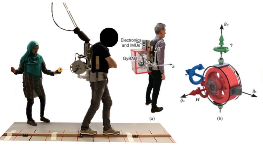 バランス歩行を「ジャイロの力」で支援するバックパック型ロボットが開発される! リハビリや高齢者の転倒防止策への応用に期待