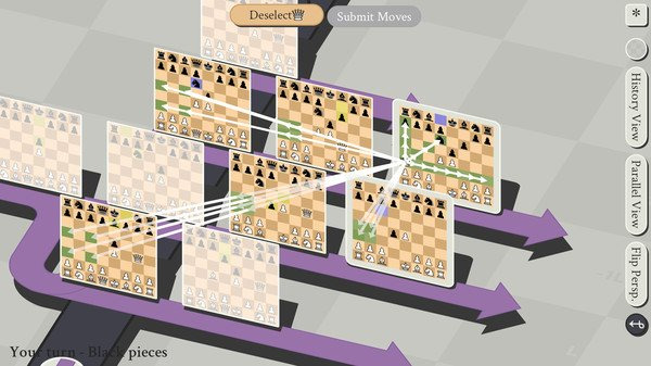 空間・時間・平行世界を駆使する「5次元チェス」がリリース。 過去に刺客を送って世界線を変える