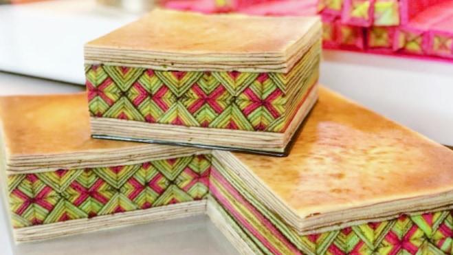 """マレーシアのケーキ断面に現れる「幾何学」模様。ケーキ職人の""""数学的思考力""""に驚き"""