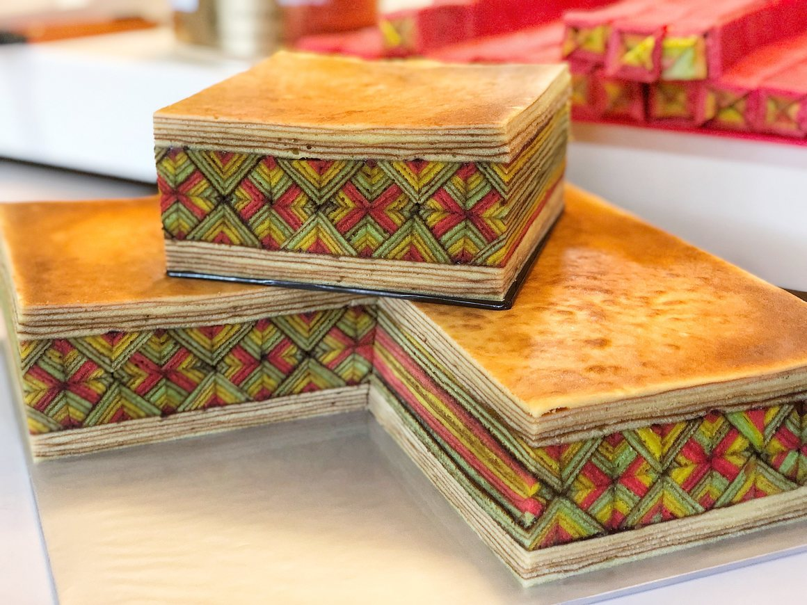 """マレーシアのケーキ断面に現れる「幾何学」模様。ケーキ職人の""""数学的思考力""""に驚きの画像 2/3"""