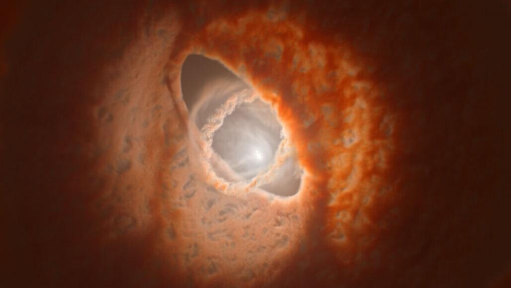 """「3つのリング」に円盤が分裂した""""幻想的な三重連星""""をアルマ望遠鏡が観測。まるで天球儀みたい!の画像 1/6"""