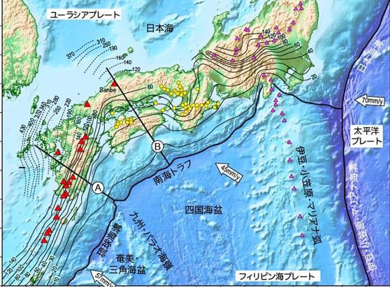 日本地図とプレート