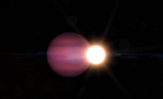 白色矮星と惑星のイメージ