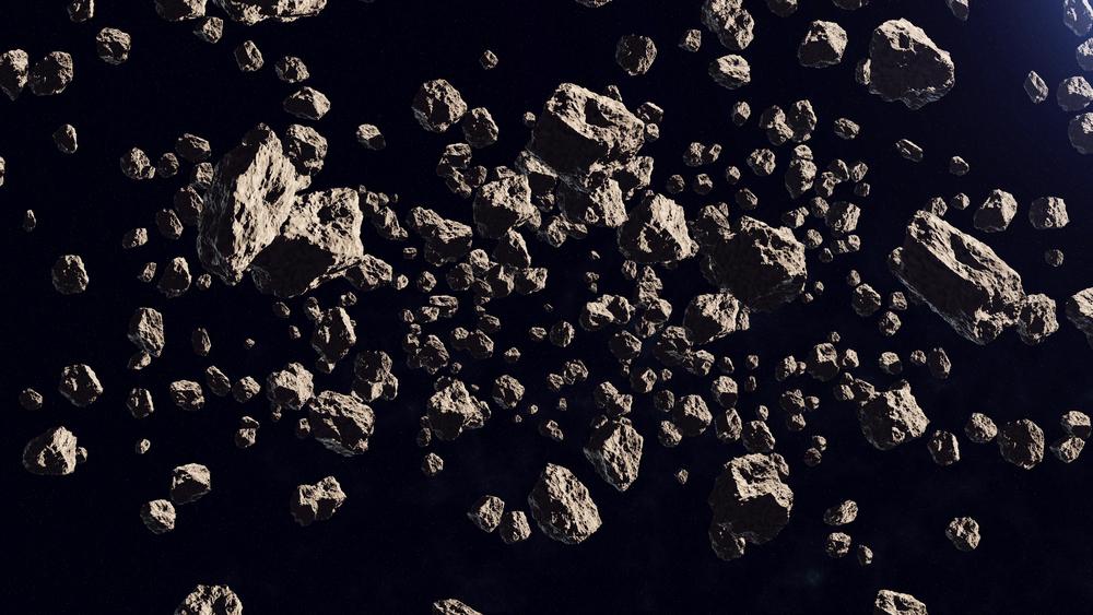 小惑星集団のイメージ