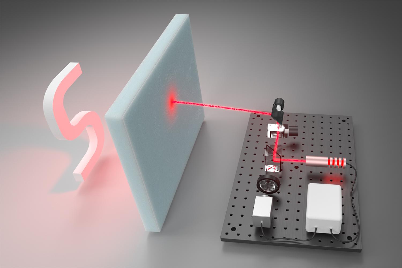 散乱光を読み取る機器のイメージ