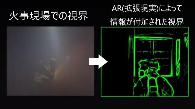 """""""拡張現実""""を使って火災救助をサポートする「AR消防士用マスク」が開発中"""