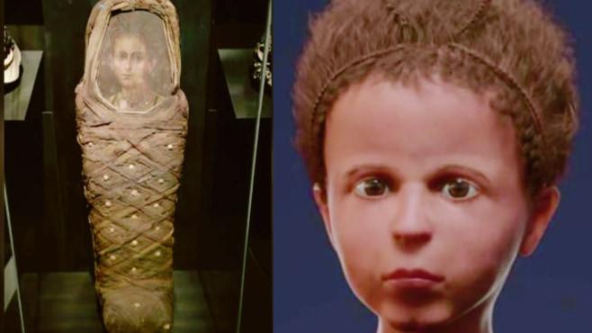 2000年前のミイラから死が迫った「少年の顔」を復元することに成功!やや年上に描かれていた
