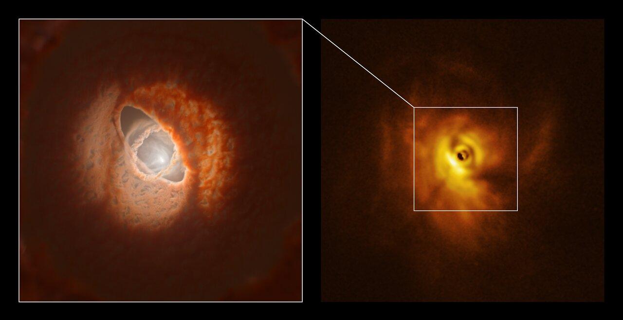 """「3つのリング」に円盤が分裂した""""幻想的な三重連星""""をアルマ望遠鏡が観測。まるで天球儀みたい!の画像 3/6"""