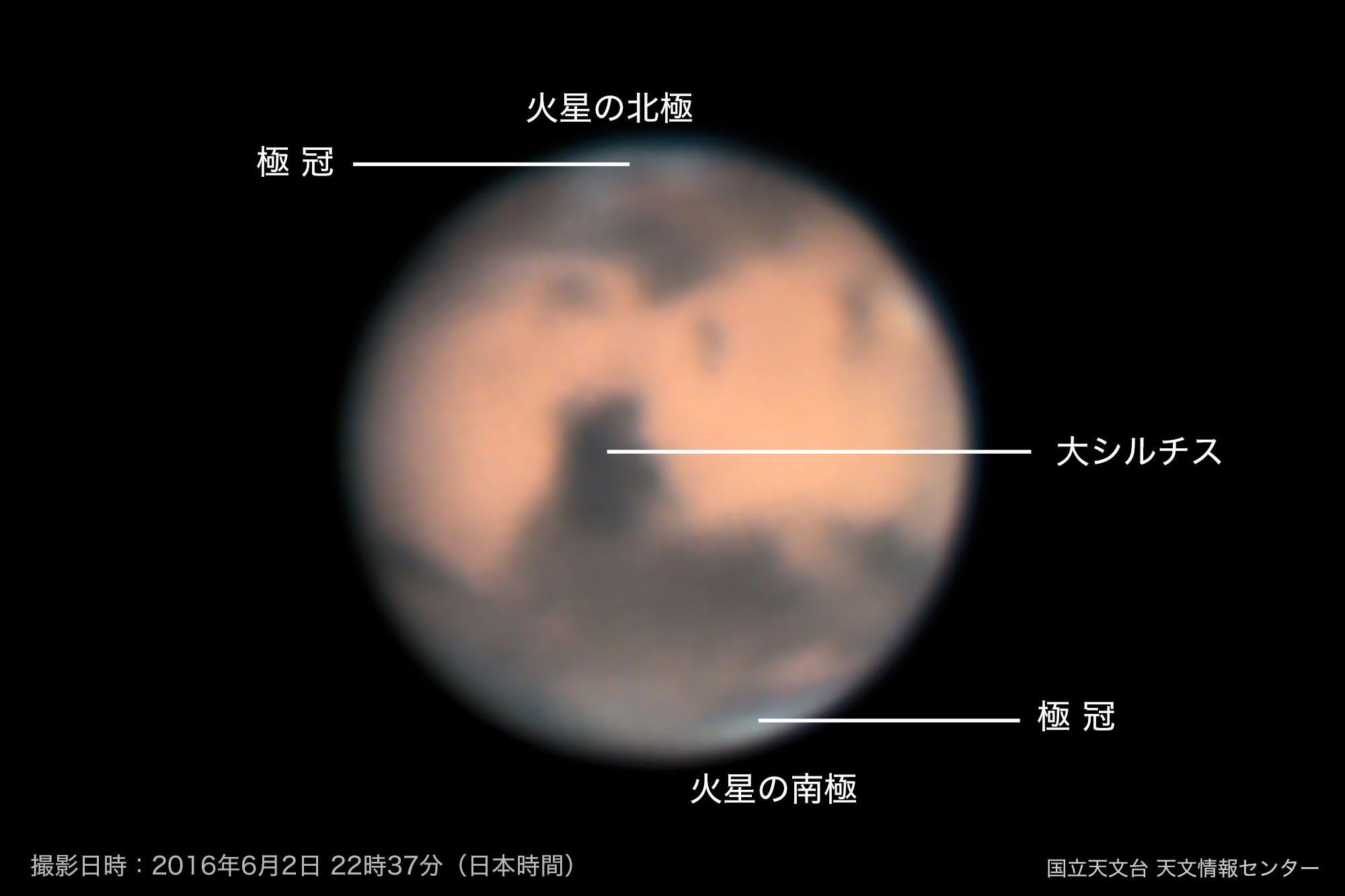 火星の模様