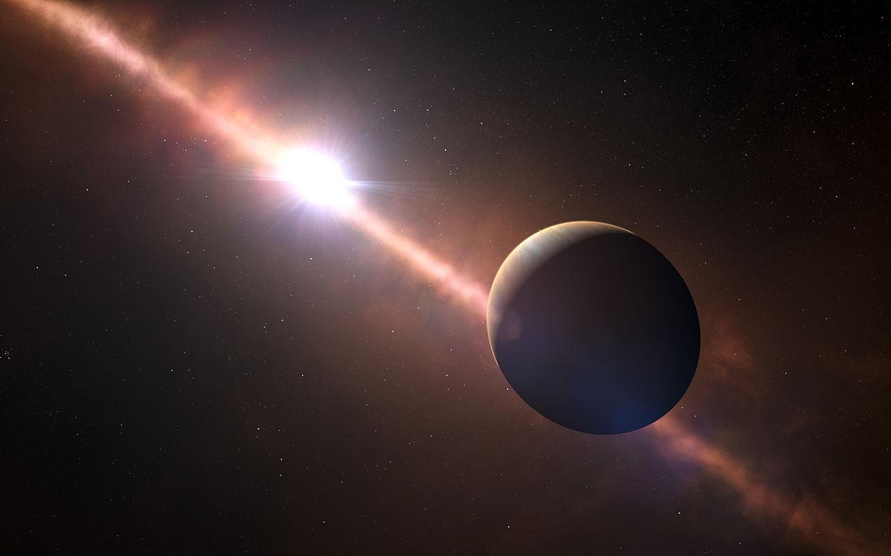 がか座β星系の惑星イメージ。
