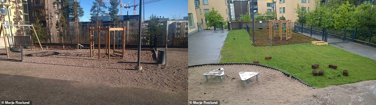 (左)標準型保育園(右)改装後の保育園