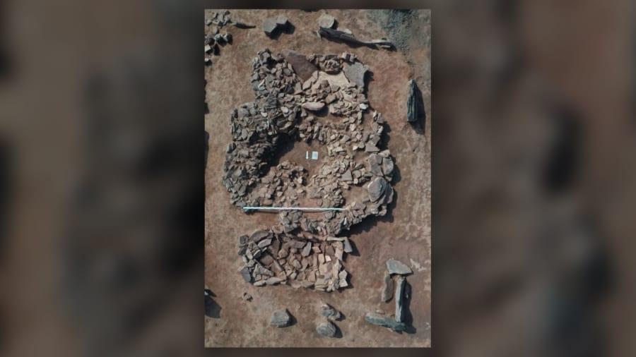 発掘された遺跡の一部