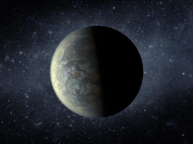 ハピタブルゾーン惑星「Kepler-20f」をイメージした画像。