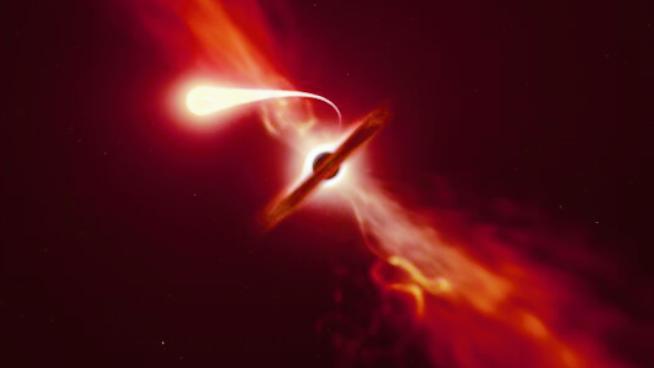 ブラックホールに飲み込まれた星が「スパゲッティ化」して消える瞬間を初めて観測!