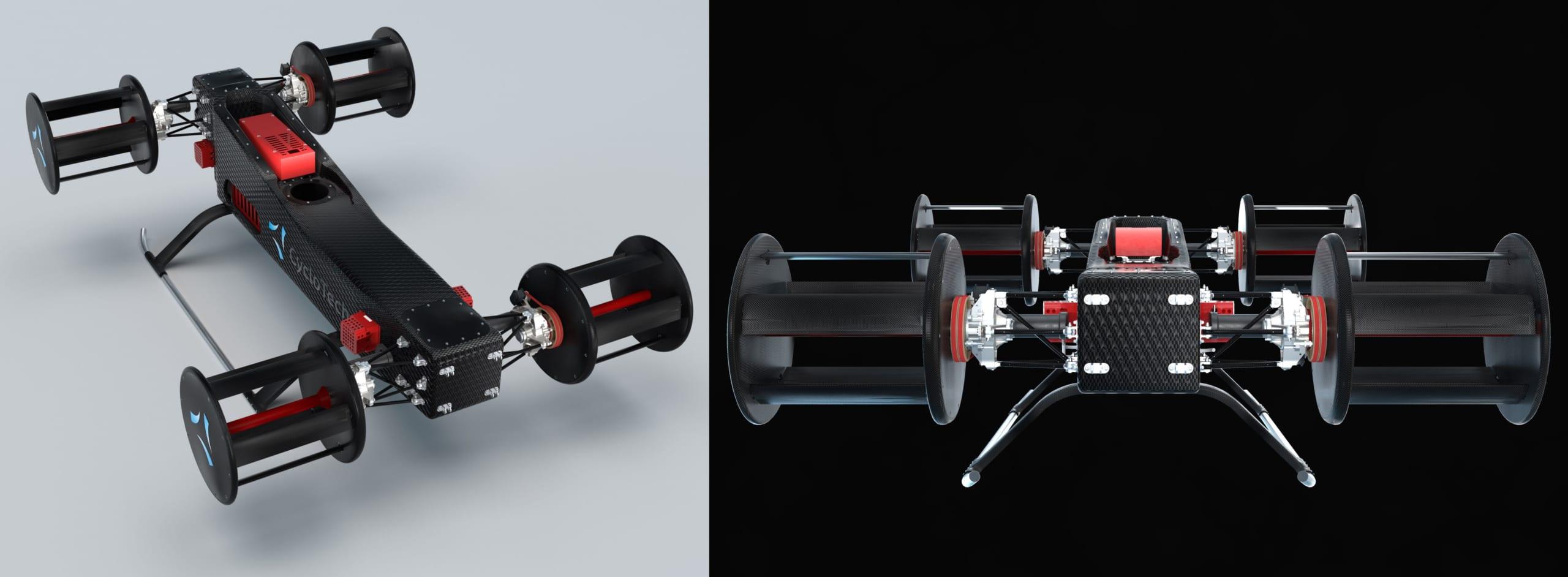 4つのサイクロジャイロを装備したデモンストレーター