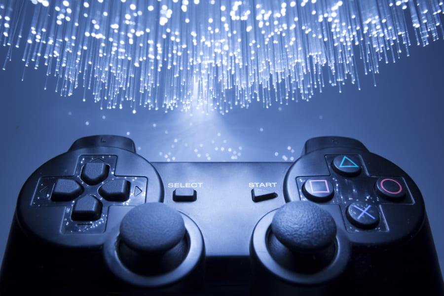 ゲームコントローラー。