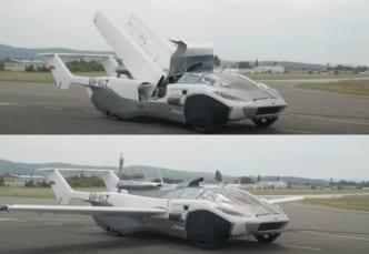AirCarの変形中と変形後