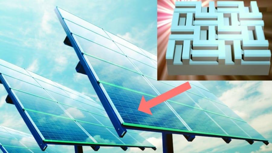 ソーラーパネルの表面を「単純な模様」にするだけで、光の吸収量が2倍になる! より発電効率の良いモデル生産へ前進