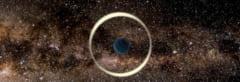 重力マイクロレンズ効果で発見された地球質量の自由浮遊惑星。