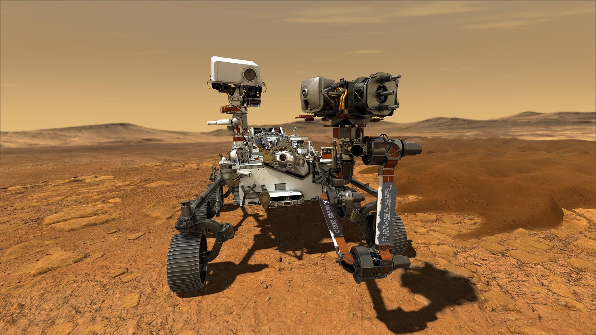 2021年に火星着陸予定の探査機「パーセヴェランス」。