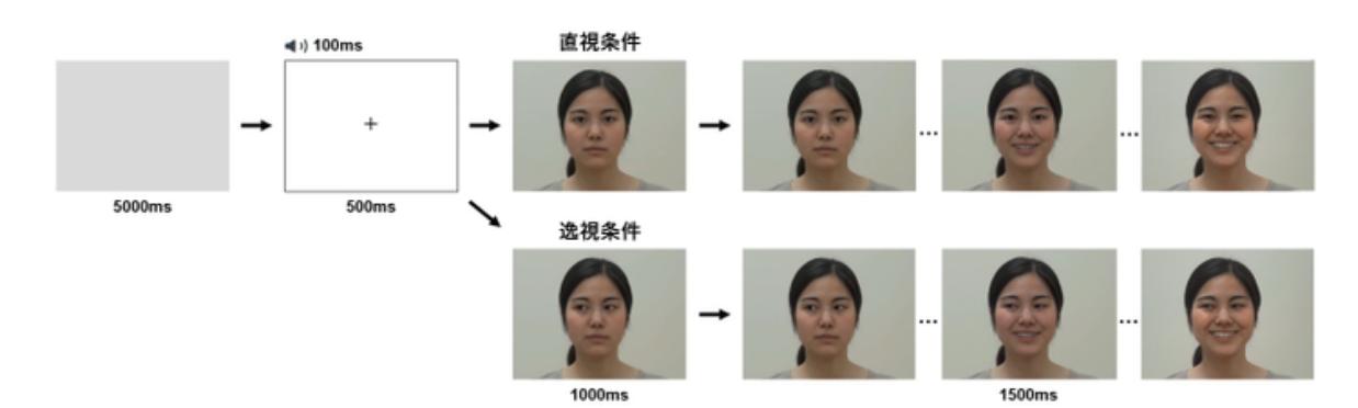 直視条件と逸視条件の差からアイコンタクトの影響がわかる