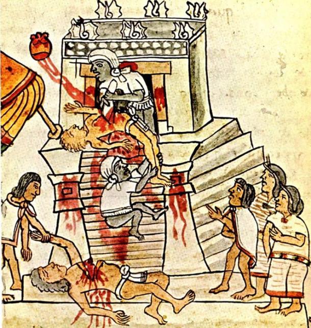 アステカで行われた生贄の儀
