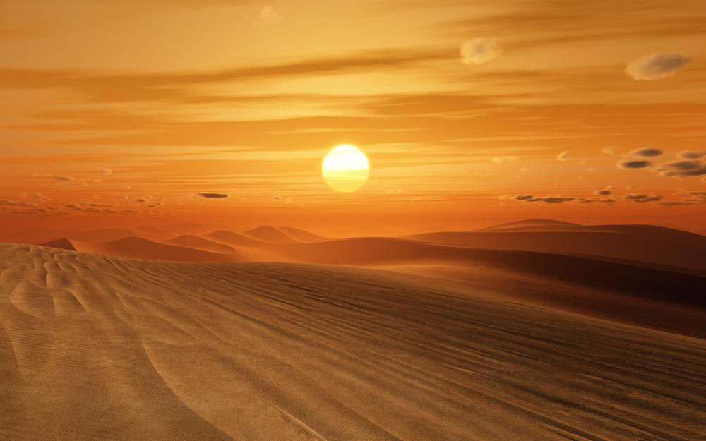 砂漠は熱しやすくて冷めやすい
