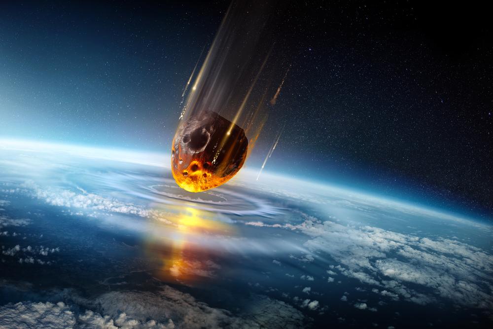大量絶滅を引き起こす隕石の落下。