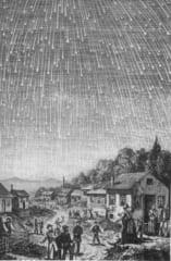 直接証言による1833年のしし座流星群の描写