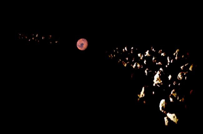 火星のトロヤ群のイメージ画像。