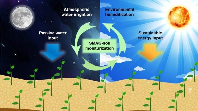空気中から水を吸収できる土壌