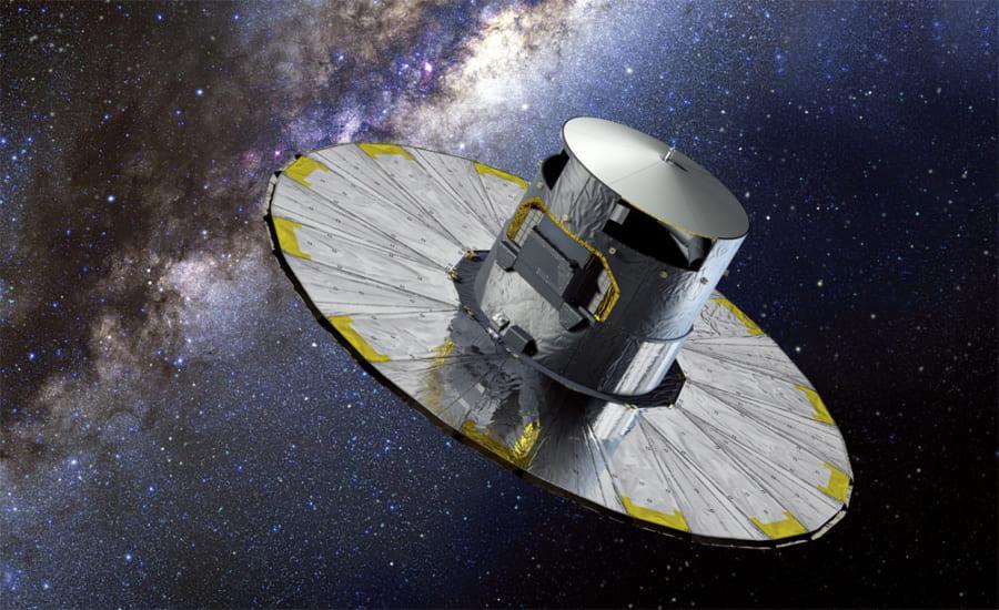 位置天文学用宇宙望遠鏡「ガイア」探査機。