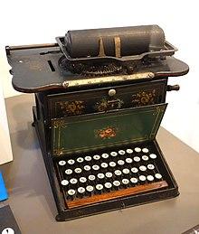 ショールズの「QWERTY配列タイプライター」