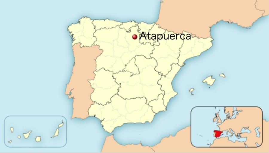 アタプエルカ考古遺跡の位置