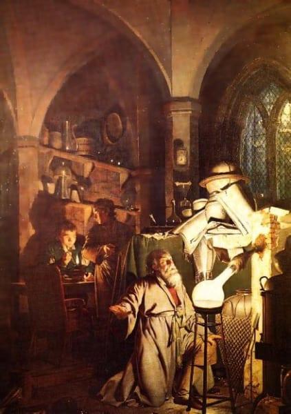 『賢者の石を求める錬金術師』(1771年)