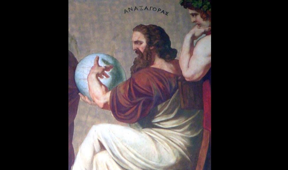 古代ギリシャの哲学者アナクサゴラスを描いたフレスコ画。
