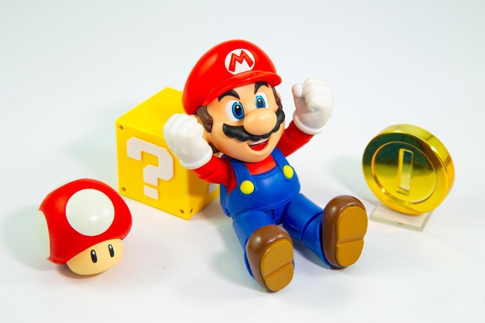 アクションゲームの代表マリオ。