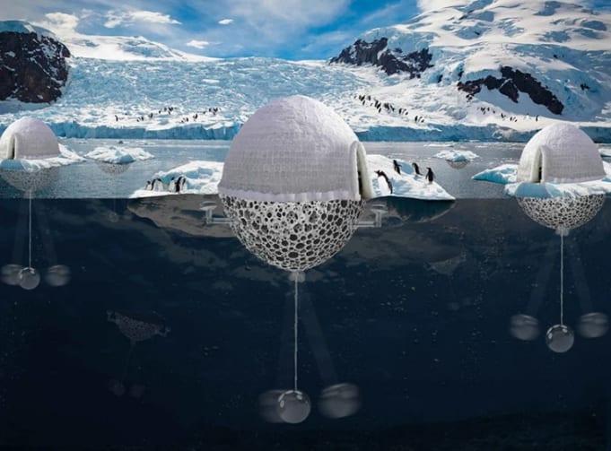 氷床を自動で生み出す「ペンギン保護システム」を建築家が考案