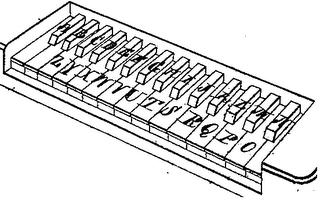 ピアノ型のタイプライター