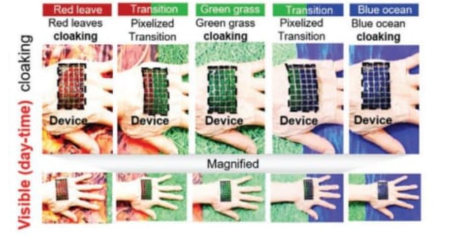 タコの擬態を再現した「熱光学迷彩」の人工皮膚が開発される!