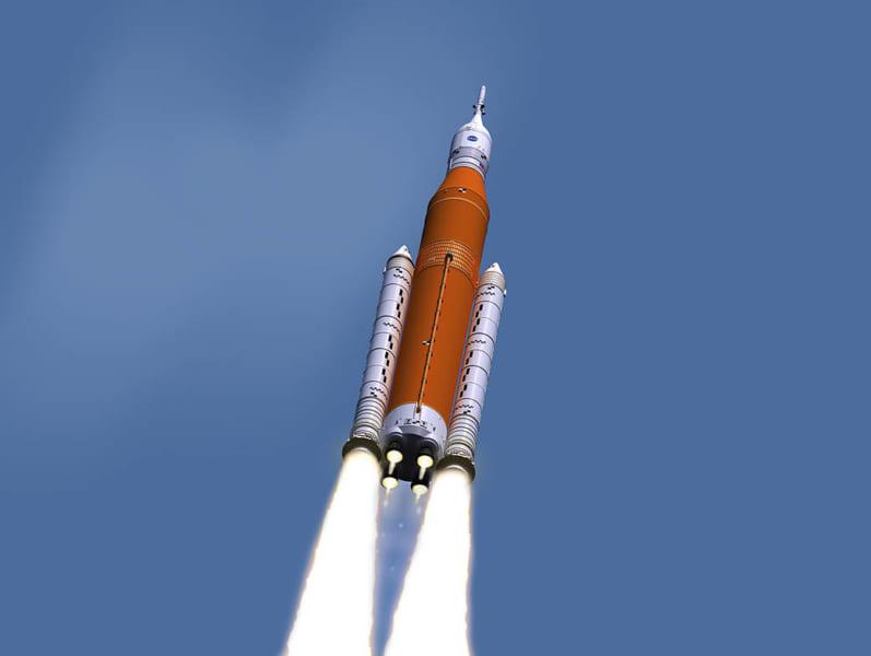 ロケット打ち上げのイメージ