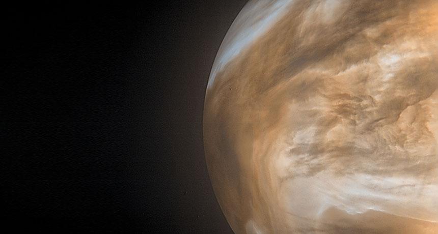 金星探査機あかつきの撮影した金星。