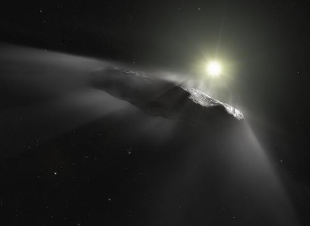 恒星間天体オウムアムアのイメージ
